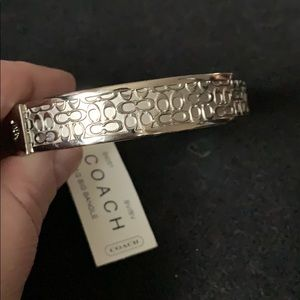 Coach silver bangle bracelet.